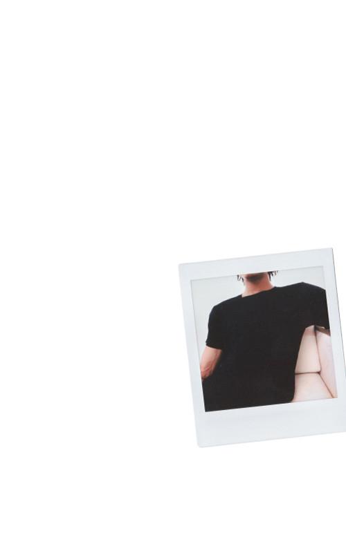 Black Mix Modal Short Sleeve T-Shirt