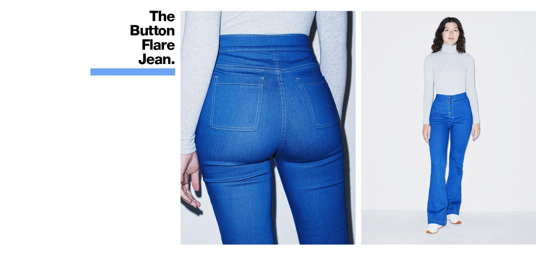 Button Flare Jean
