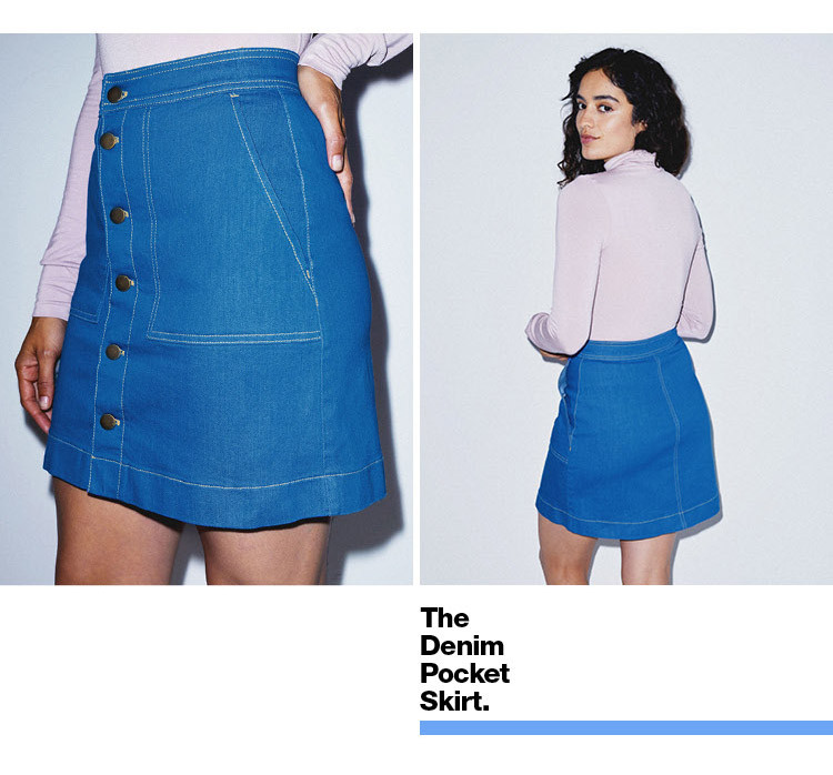 Denim Pocket Skirt