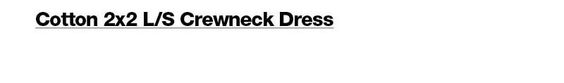 Cotton 2x2 L/S Crewneck Dress