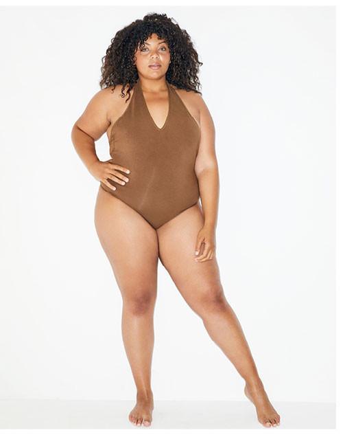 Nude 4 Cotton Spandex Halter Bodysuit