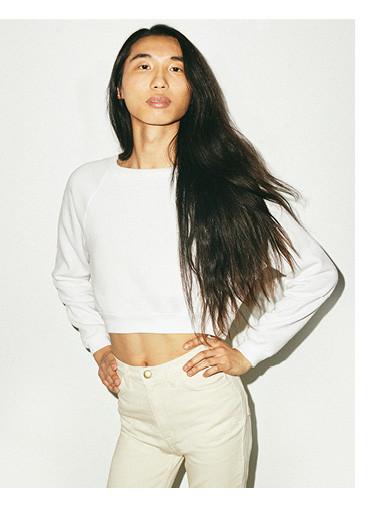 Flex Fleece raglan cropped sweatshirt