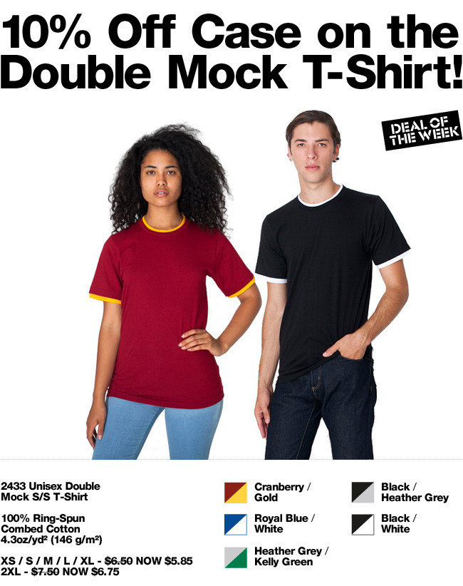 Deal of the Week: 10% Off Case Price on the Double Mock T!