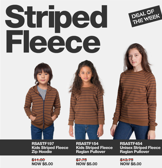 Deal of the Week: Save on Striped Fleece!