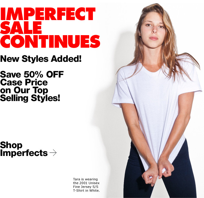 Imperfect Sale Continues