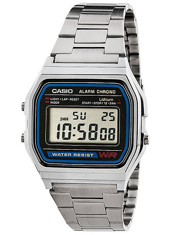 A158WA-1 Casio Silver & Black Digital Watch