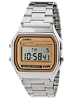 A158WA-9 Casio Silver & Camel Digital Watch