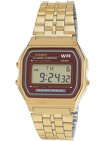 A159WGEA-5 Casio Gold & Burgundy Digital Watch