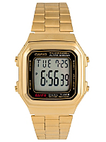 A178WA-1AV Casio Gold & Black Digital Watch
