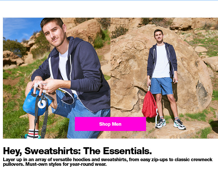 Hey, Sweatshirts: The Essentials.
