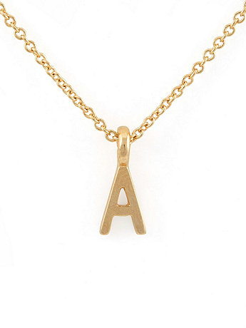 Gold Tone ABC Pendant