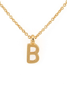 Gold Tone ABC Pendant