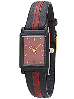 Activa Square Leather Wristwatch