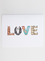 Love Animal Greeting Card