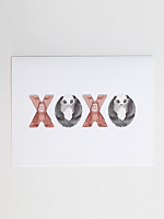 XOXO Animal Greeting Card