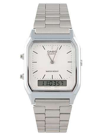 AQ-230A Casio Dual Time Metal Watch