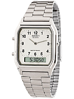 AQ230A-7B Casio Silver & White Dual Time Watch