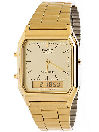 AQ-230GA-9D Casio Gold Dual Time Watch