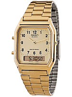AQ-230GA-9BMQ Casio Gold Dual Time Watch