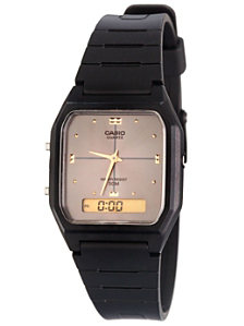 AW-48HE-8A Casio Resin & Grey Dual Time Watch