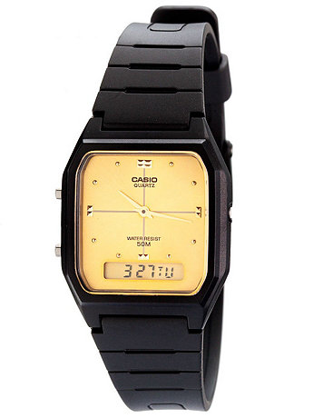 AW48HE-9AV Casio Resin & Gold Dual Time Watch