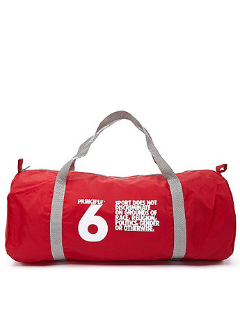 Principle 6 Screen Printed Nylon Duffle Bag