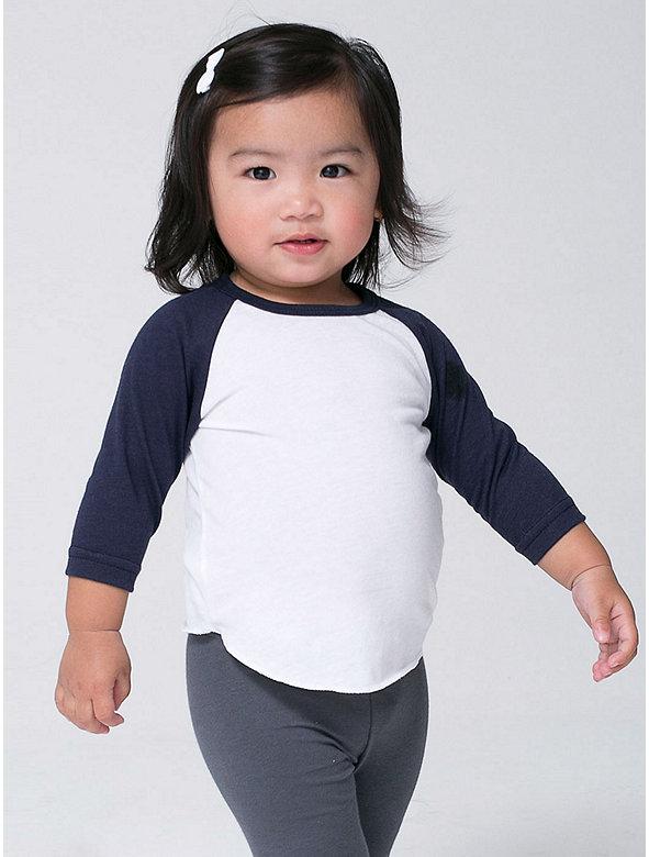 Infant Poly-Cotton 3/4 Sleeve Raglan