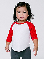 Infant Poly-Cotton 3/4 Sleeve Raglan