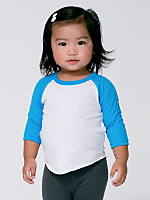 Infant Neon Poly-Cotton 3/4 Sleeve Raglan