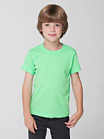 Kids Neon Poly-Cotton Short Sleeve T-Shirt