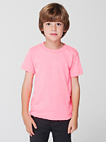 Kids' Neon Poly-Cotton Short Sleeve T-Shirt