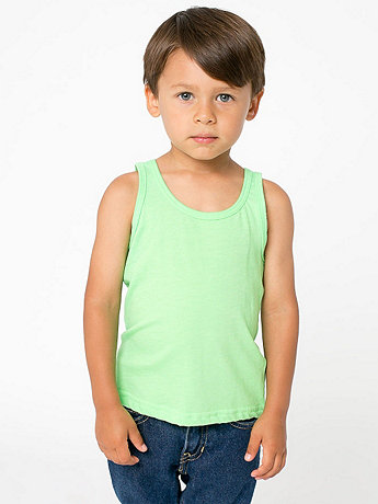 Kids' Neon Poly-Cotton Tank