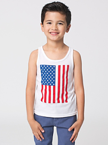 US Flag Print Kids' Poly-Cotton Tank
