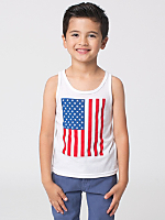 US Flag Print Kids Poly-Cotton Tank