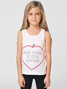NY Lovers Print Kids' Poly-Cotton Tank