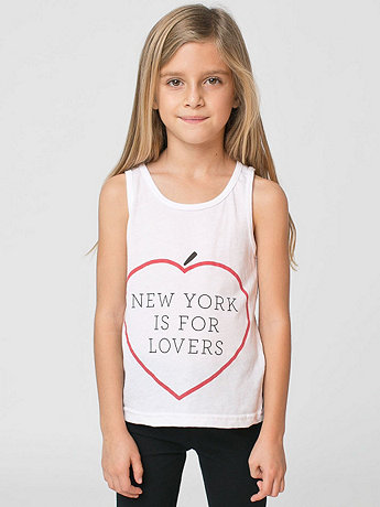 NY Lovers Print Kids Poly-Cotton Tank