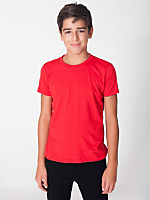 Youth Poly-Cotton Short Sleeve Crew Neck