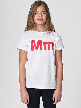 Helvetica Youth Poly-Cotton Short Sleeve Crew Neck
