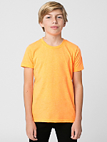 Youth Neon Poly-Cotton Short Sleeve Crew Neck