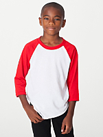 Youth Poly-Cotton 3/4 Sleeve Raglan