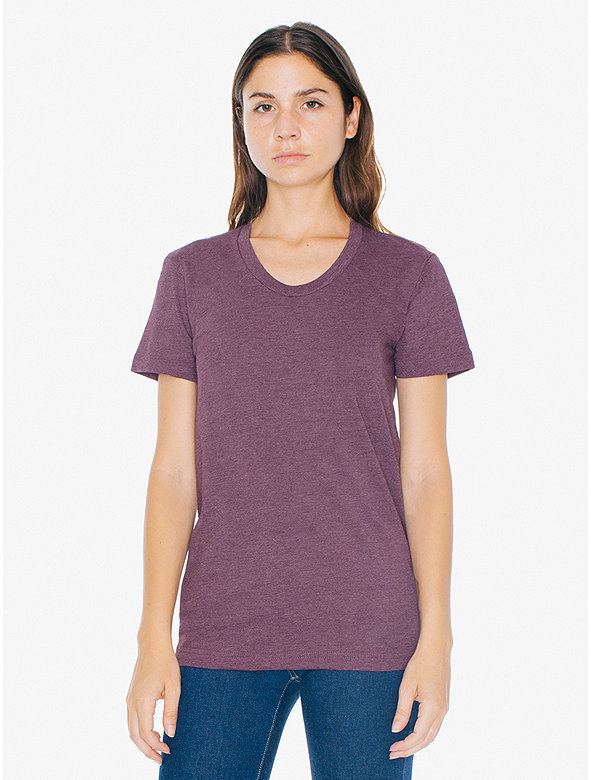 Poly-Cotton Short Sleeve Women's T-Shirt