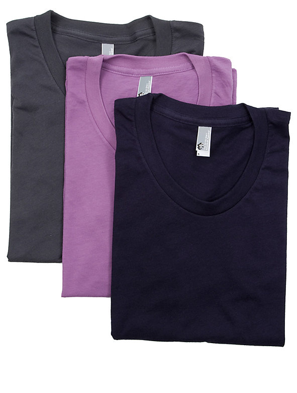 Poly-Cotton Short Sleeve Women's T (3-Pack)