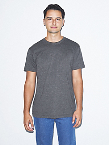 Poly-Cotton Short Sleeve Crew Neck