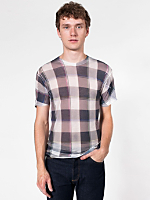 Poly-Cotton Short Sleeve Plaid T-Shirt