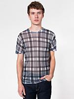 Poly-Cotton Short Sleeve Plaid T-Shirt
