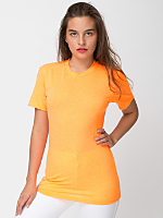Unisex Neon Poly-Cotton Short Sleeve Crew Neck