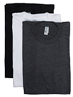 Poly-Cotton Short Sleeve Crew Neck Tee (3-Pack)