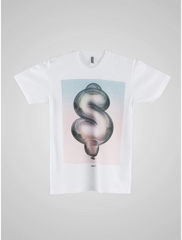 Screen Printed Poly-Cotton Short Sleeve T-Shirt-Just A Lot of Hot Air