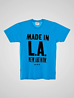 Screen Printed Poly-Cotton Short Sleeve Crew Neck - Made in LA