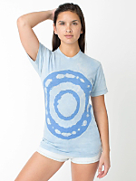 Unisex One-of-a-Kind Tie Dye Poly-Cotton Short Sleeve Crew Neck